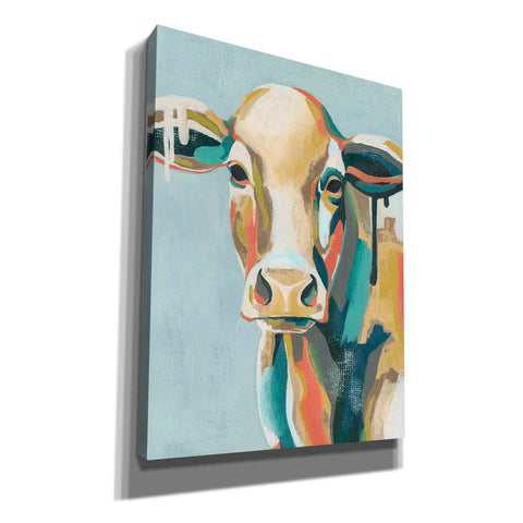 'Colorful Cows I' by Grace Popp, Canvas Wall Glass
