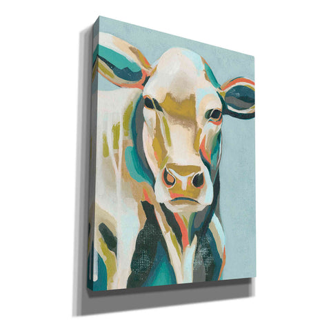 'Colorful Cows III' by Grace Popp, Canvas Wall Glass