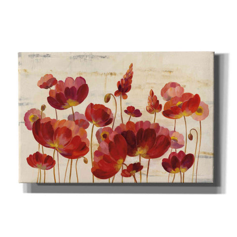Image of 'Red Flowers on Marble' by Silvia Vassileva, Canvas Wall Art