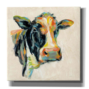 'Expressionistic Cow I' by Silvia Vassileva, Canvas Wall Art
