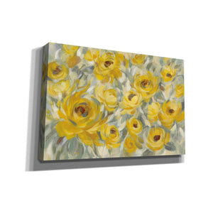 'Yellow Roses' by Silvia Vassileva, Canvas Wall Art