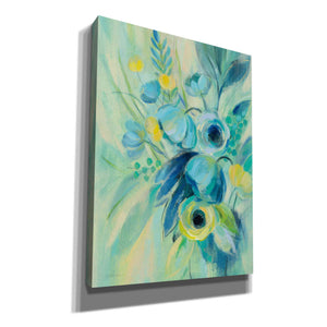 'Elegant Blue Floral II' by Silvia Vassileva, Canvas Wall Art
