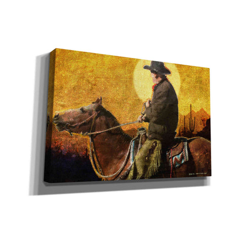 'Rough Trail Cowboy' by Chris Vest, Canvas Wall Art