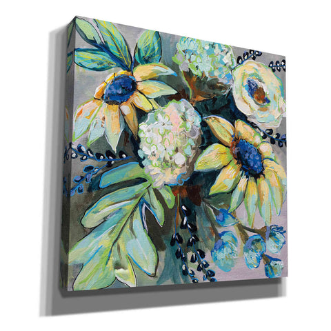 Image of 'Sage and Sunflowers II' by Jeanette Vertentes, Canvas Wall Art