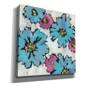 'Graphic Pink and Blue Floral III' by Silvia Vassileva, Canvas Wall Art