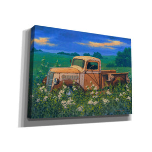 'Truck In the Meadow Adobe' by Richard Courtney, Canvas Wall Art