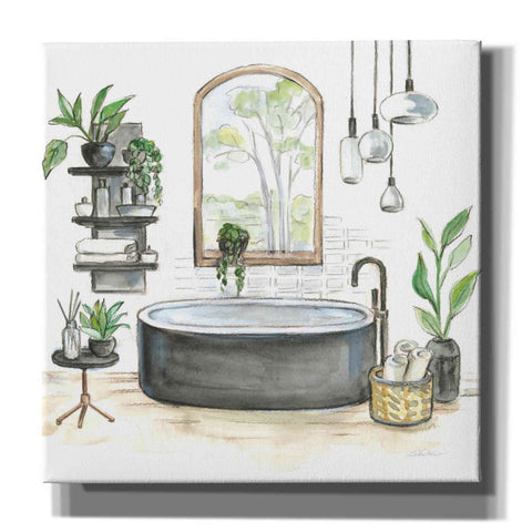 'Black Bathtub I' by Silvia Vassileva, Canvas Wall Art