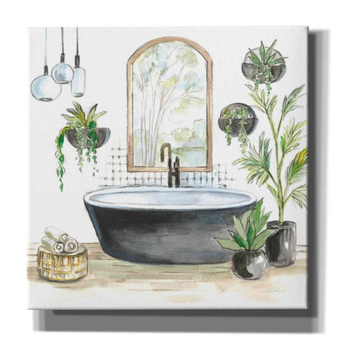 'Black Bathtub II' by Silvia Vassileva, Canvas Wall Art