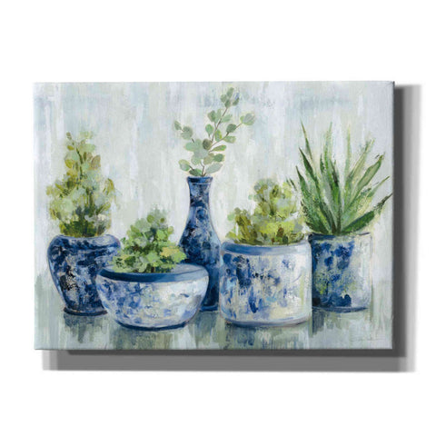 'Chinoiserie Plants Bright' by Silvia Vassileva, Canvas Wall Art