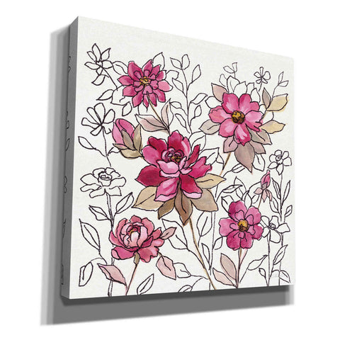 Image of 'Magenta Flower Lace I' by Silvia Vassileva, Canvas Wall Art