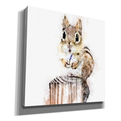 'Chippy With Flower' by Kim Curinga, Canvas Wall Art