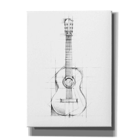 """Guitar Sketch"" by Ethan Harper, Canvas Wall Art"