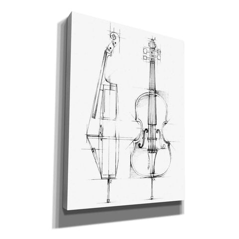 """Cello Sketch"" by Ethan Harper, Canvas Wall Art"