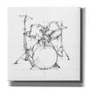 """Drum Sketch"" by Ethan Harper, Canvas Wall Art"