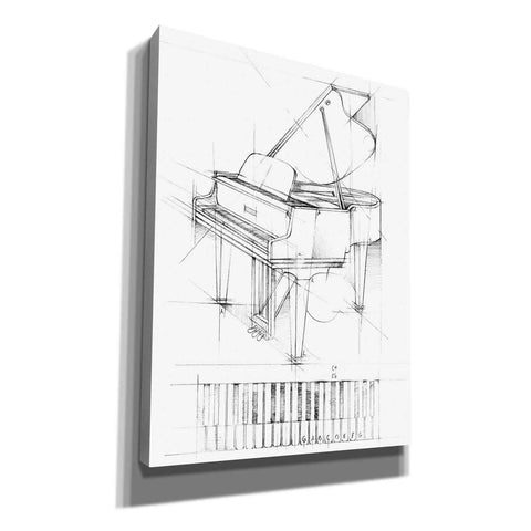 """Piano Sketch"" by Ethan Harper, Canvas Wall Art"