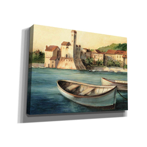 """Mediterranean Harbor II"" by Ethan Harper, Canvas Wall Art"