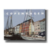 'Copenhagen Poster' by Linda Woods, Canvas Wall Art