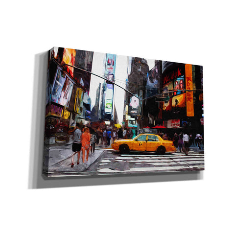 Image of 'Times Square' by Linda Woods, Canvas Wall Art