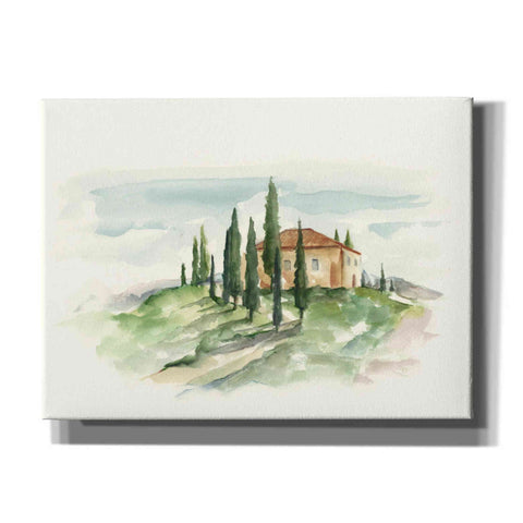 """Watercolor Tuscan Villa II"" by Ethan Harper, Canvas Wall Art"