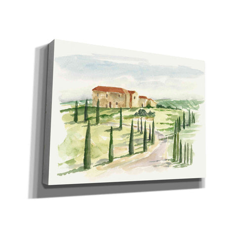 """Watercolor Tuscan Villa I"" by Ethan Harper, Canvas Wall Art"