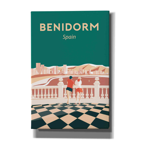'Benidorm' by Arctic Frame Studio, Canvas Wall Art