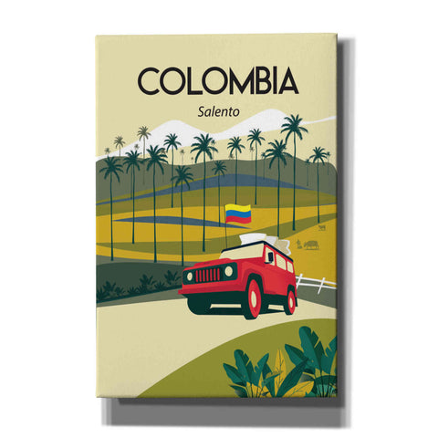 'Colombia' by Arctic Frame Studio, Canvas Wall Art