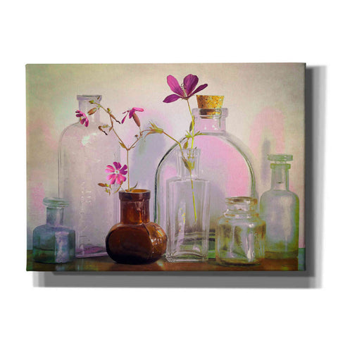 "Image of ""Bottles On The Bureau"" by Hal Halli, Canvas Wall Art"