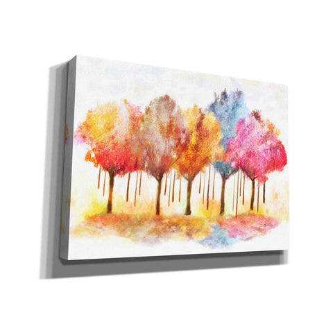 "Image of ""Row Of Painted Trees"" by Hal Halli, Canvas Wall Art"