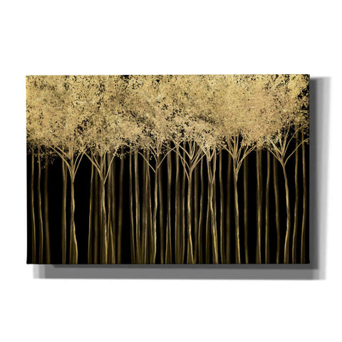 "Image of ""Golden Dark Forest 2"" by Hal Halli, Canvas Wall Art"