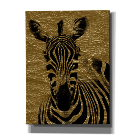 "Image of ""Zebra 1"" by Hal Halli, Canvas Wall Art"