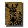 """Zebra 1"" by Hal Halli, Canvas Wall Art"
