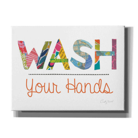 Image of 'Wash Your Hands' by Courtney Prahl, Canvas Wall Art