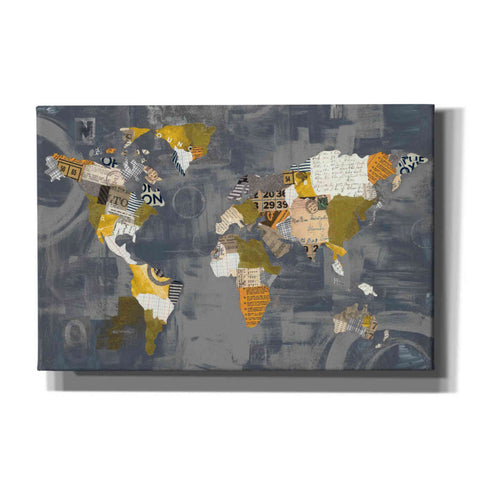Image of 'Golden World on Grey' by Courtney Prahl, Canvas Wall Art