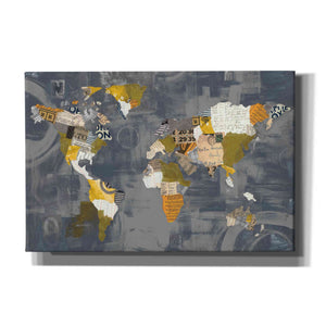 'Golden World on Grey' by Courtney Prahl, Canvas Wall Art