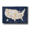 'Vintage USA on Indigo' by Courtney Prahl, Canvas Wall Art