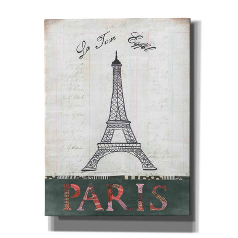 Image of 'La Tour Eiffel' by Courtney Prahl, Canvas Wall Art
