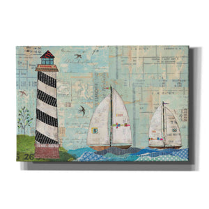 'At the Regatta Coastal Lighthouse' by Courtney Prahl, Canvas Wall Art