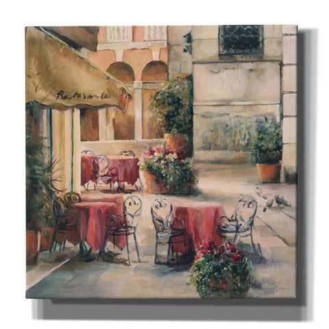 Image of 'Plaza Cafe Crop' by Marilyn Hageman, Canvas Wall Art