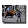 'Fearless Girl and Charging Bull of Wallstreet,' Canvas Wall Art