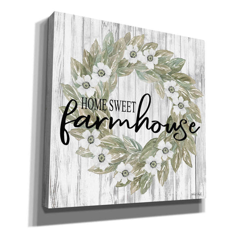 Image of 'Home Sweet Farmhouse Wreath' by Cindy Jacobs, Canvas Wall Art