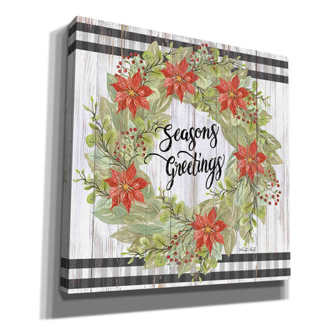 'Seasons Greetings Wreath' by Cindy Jacobs, Canvas Wall Art