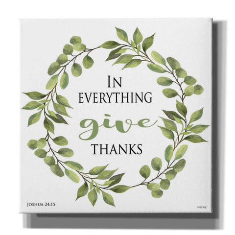 Image of 'In Everything Give Thanks Wreath' by Cindy Jacobs, Canvas Wall Art
