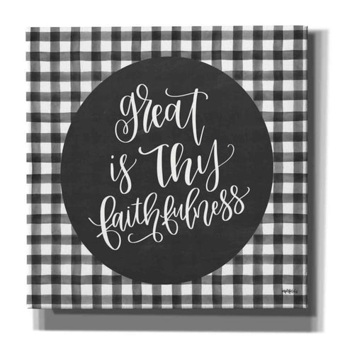 'Great is Thy Faithfulness' by Imperfect Dust, Canvas Wall Art