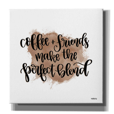 'Coffee + Friends' by Imperfect Dust, Canvas Wall Art