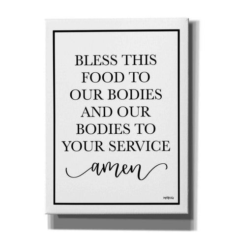 'Bless This Food' by Imperfect Dust, Canvas Wall Art