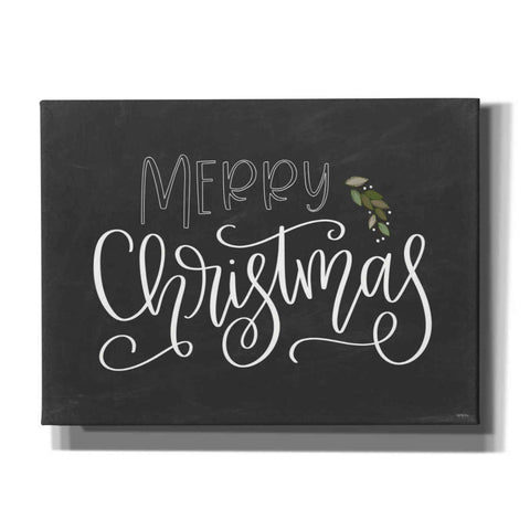 'Merry Christmas Chalkboard' by Imperfect Dust, Canvas Wall Art