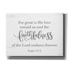 'Faithfulness' by Imperfect Dust, Canvas Wall Art