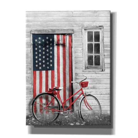 'Patriotic Bicycle' by Lori Deiter, Canvas Wall Art