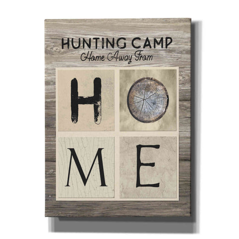 'Hunting Camp Home Away From Home' by Lori Deiter, Canvas Wall Art