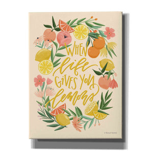 'When Life Gives You Lemons' by Rachel Nieman, Canvas Wall Art